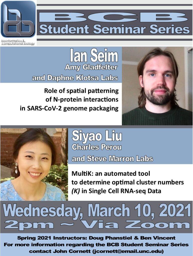 BCB Student Seminars_21 0310 Seim and Liu