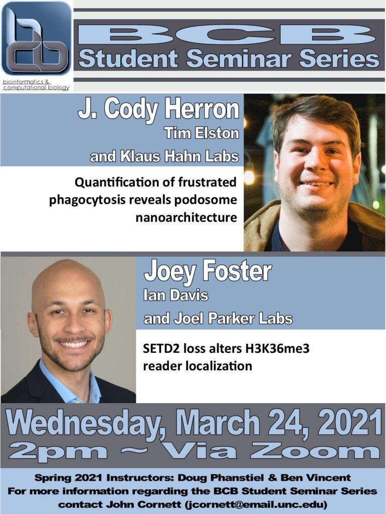 BCB Student Seminars_21 0324 Herron and Foster